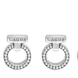 Lagos 'Enso' Caviar™ Clip Earrings Sterling Silver